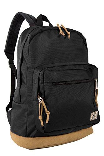 Suede Bottom - Everest Suede Bottom Daypack with Laptop Pocket Backpack, Black, One Size