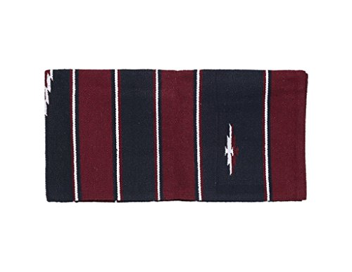 Tough 1 Wool Sierra Saddle Blanket, Burgundy/Black