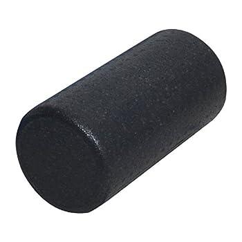 High Density Molded Foam Roller - Full Round, Black, 12 in