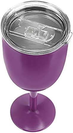 YYSD Copa de Acero Inoxidable Copa de Vino Tinto Coche Auto Copa Cóctel de Doble Capa Tapa de Copa de Vidrio Duradera Artículos para Beber Copa de Vidrio Fiesta