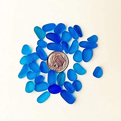 Amazon com: 30 Pieces Sea Glass Beads/Beach Glass Beads No Drilled