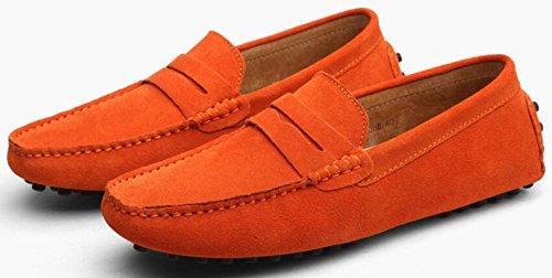 Da Casual Uomini Uomo Da L'estate Scarpe Nuovi Scarpe Uomo E Orange YXLONG Scarpe Piselli Primavera Pelle In Britanniche AvqZ77