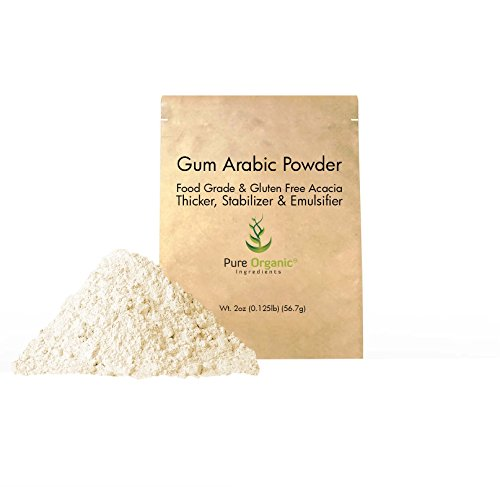 Gum Arabic (Acacia) Powder (2 oz.) by Pure Organic Ingredients, Essential Ingredient for DIY Watercolor Paints, Craft Cocktails, Royal Icing, Ice Cream, and Much More