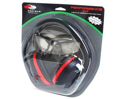 Radians Performance Kit with Silencer Ear Muff and Revelation Shooting Glasses (Clear)