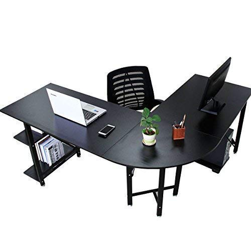 Bizzoelife Large Corner Desk L Shaped Computer Desk Gaming Laptop Table 67
