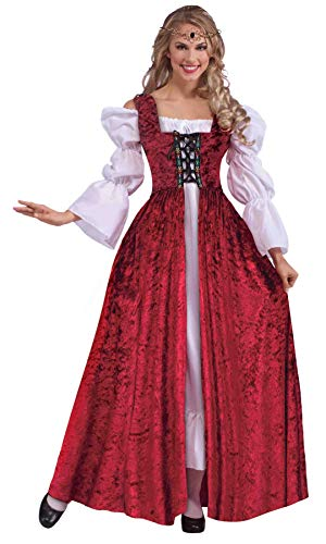 Forum Novelties Women's Plus Size Medieval Lace-Up Gown, Red, Plus Size]()