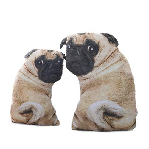 ZIETNAL Stuffed & Plush Animals - Simulation Dog Plush Pug Toys Soft Lifelike Stuffed Animals Shar Pei Pug Plush Pillow Dolls Sofa Cushion Kids Girls Gift 1 PCs