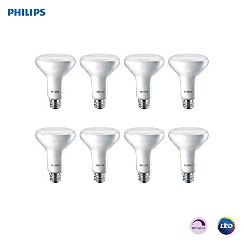 Philips LED 474098 11BR30/EDY/827/E26/DIM FB 2PK 4/2 Light Bulb, 8 Pack, Soft White, 8 Piece