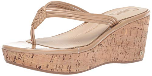 Circus By Sam Edelman Women's Ruby Wedge Sandal, Almond Patent, 8.5 M US