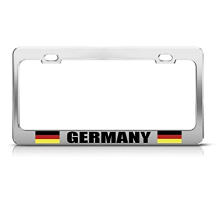 Germany License Plate Tag Frame German Flag