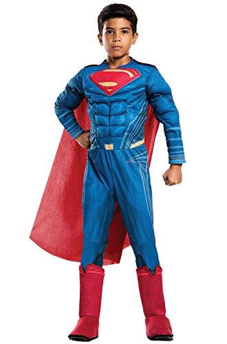 Deluxe Superman Kids Cape (Rubie's Costume Boys Justice League Deluxe Superman Costume, Small, Multicolor)