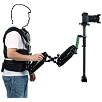 IMORDEN Metal Camera Shoulder Stabilizer Support Load Vest with Double Arm and 120cm Handheld Stabilizer for DSLR Video Movie Cameras(up to 6.6~13lbs)