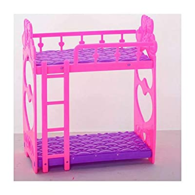 Barbies Dolls Bedroom Pink Plastic Dressing Table And Chair Set Toy Dollhouse Miniature Furniture for Baby Kids Girls Playroom Party: Home Improvement