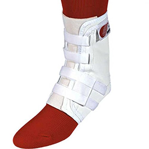 Swede-O Easy Lok Strap Ankle Brace, White, Small