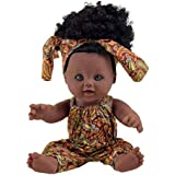 Cultural Baby Black Dolls for Kids. African Doll Toy. African Black Baby Doll. Afro Hair Tie Girls Barbie Christmas