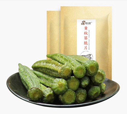 Fujian Specialty: Laoamo Healthy Snack Okra Chips 90g/3.17oz/0.20lb by LAOAMO