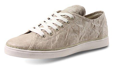 Unstitched Verktyg Kvinna Nästa Dag Låg Designer Tyvek Mode Sneakers, Sten, 7,5