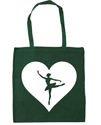 Heart 10 Green Bag 42cm x38cm Beach HippoWarehouse Ballet Gym Bottle Tote Shopping litres qW1gwxCd