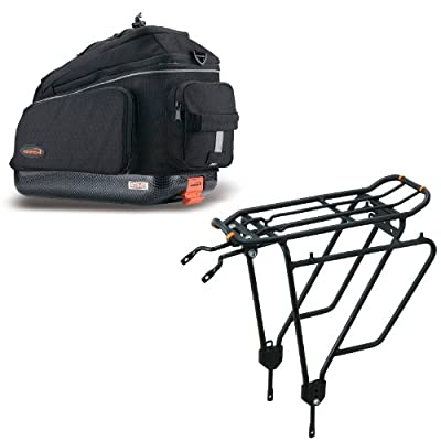 Ibera PakRak Clip-On Quick-Release Commuter Bag & PakRak Touring Carrier Rack Plus+ Combo Set