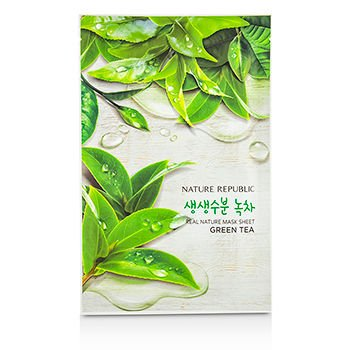 Nature Republic Real Nature Mask Sheet, Green Tea, 30 Gram