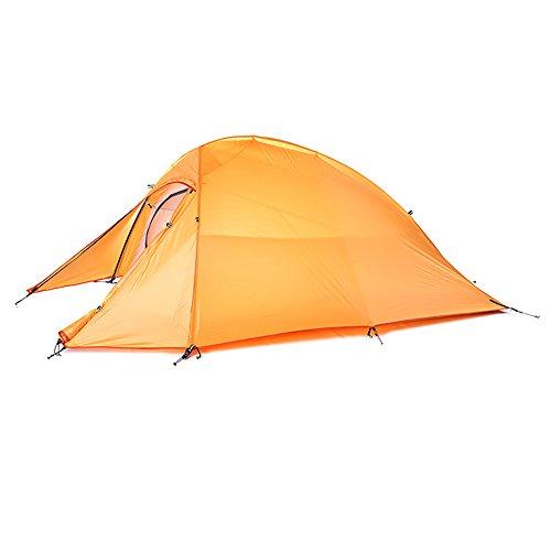 ただいっぱい反乱キャンプテント 1-2人用 2構造層 アウトドアキャンプ オールシーズン適用 樹脂塗装軽量防暴雨防滴 ツーリングテント