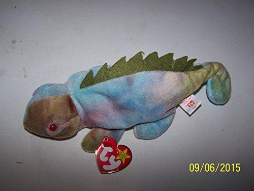 Ty Beanie Baby - Iggy The Iguana (Tye-Dyed w/ Spikes) (Lizard Ty Beanie Baby)