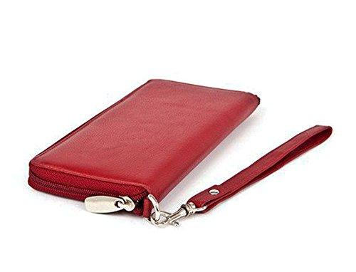Clutch rosso Rogue Scudo rosso parigino parigino Zip RFID UqqAwxB6