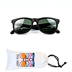 Kd3059-vp Style Vault Baby infant (0-12 months old) Wayfarer Sunglasses (G mt black-green, uv400)