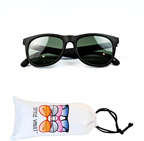 Kd3059-vp Style Vault Baby infant (0-12 months old) Wayfarer Sunglasses (G mt black-green, - 6 Months 12 Infant Sunglasses