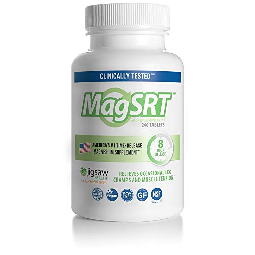 - MagSRT - Jigsaw Health - Premium, Organic, Slow Release Magnesium Supplement - Active, Bioavailable Magnesium Malate Tablets with B-Vitamin Co-Factors, 240 Tablets (1)
