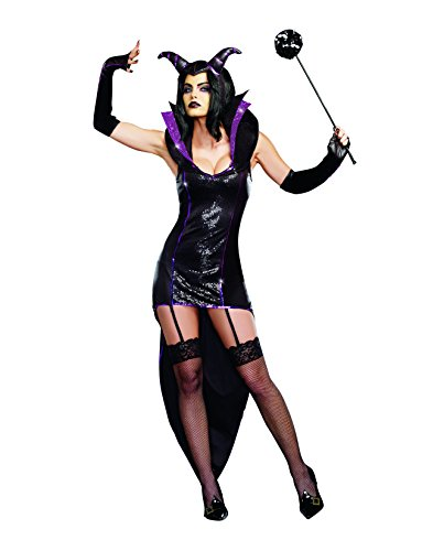 Queen Of Darkness Sexy Costumes (Dreamgirl Women's Queen Of Darkness, Black, Small)