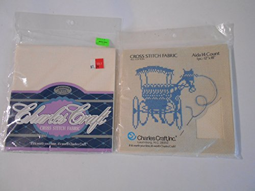 Charles Craft 1 Aida 14 Ct 1 Hardanger 22 Ct Cross Stitch Fabric 12