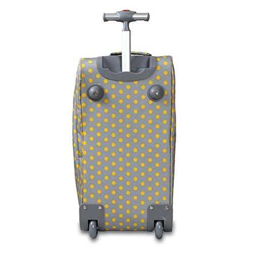 OS Single Piece Grey Polka Dot Rolling Duffel Bag, Fashion Carry On Lined, Polyester Material, Adjustable Strap, Telescoping Handle, Plenty Of Space, Attractive Style, Perfect for weekend road trip by OS (Image #4)