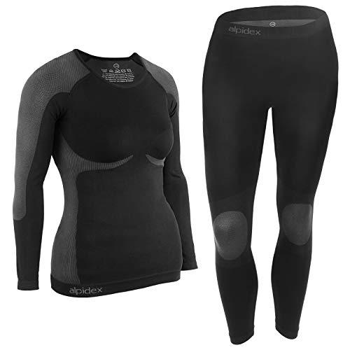 ALPIDEX Femme sous-vêtements Thermique Femme Fonctionnels pour Femmes sous-vêtements de Ski : Respirants, réchauffants et à séchage Rapide