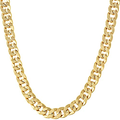 Lifetime Jewelry Cuban Link Chain, 6MM, 24K Gold Over Semi Precious Metals, Diamond Cut, Premium Fashion Jewelry Necklace, Designed to Resist Tarnishing, LIFETIME REPLACEMENT GUARANTEE, Long 36 inches