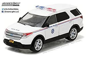 GREENLIGHT 1:64 BLUE COLLAR COLLECTION SERIES 2 - 2014 FORD EXPLORER POSTAL POLICE 35060-D