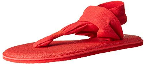 Sanuk Yoga Sling#2 Spectrum, Tongs Femme, Rose, 8 US Rouge (Tomato Toma)
