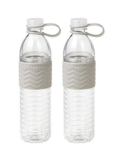 Copco Hydra Resuable Water Bottle, 20-Ounce (2 Pack) (Gray)