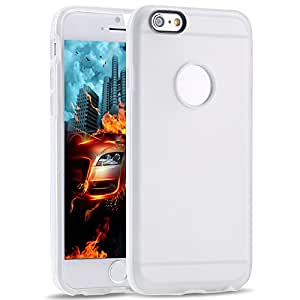 New 4.7 Inch Clear Back Case for Iphone 6 Cover Soft Transparent TPU+PC Frame With Precise Hole phone Shell for iphone6 NEW YEAR --- Color:Orange