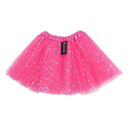 Anleolife-12-Baby-Girls-Fluffy-Birthday-Tutu-Skirt-Girls-Princess-Pettiskirt-Ballet-Dance-Tutu-Dress-For-2-9-Years-Dressup-Fairy-Costume-Tutus-rose-red