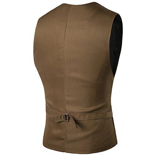 Sleeveless Formal Khaki Casual Respirable Vest Waistcoat Suit Business Zhhlaixing Dress Men's C6wnzUwtq