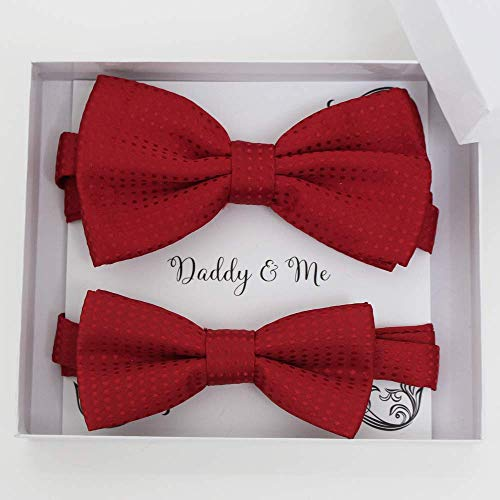 Red Bow tie set for daddy and son,