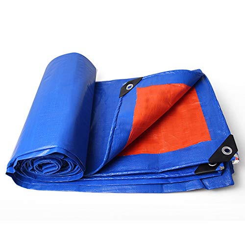 HAKN Tarps,Lightweight Outdoor Tarpaulin 10m x 12m Multi-Purpose Tarpaulin, Ripstop, with Washer and Reinforced Edge (Color : Blue, Size : 10m10m)