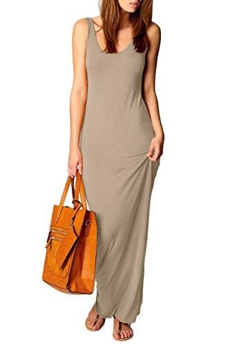 Maxi Gray Tank Sleeveless YMING Women's Casual Dress Long Top xAZUwY1q