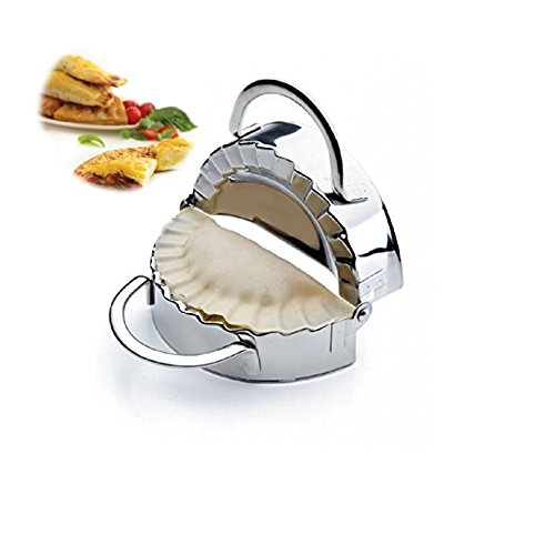i Kito New Stainless Steel Ravioli Mould Dumpling Maker Mold Wrapper Pierogie Pie Crimper Pastry Dough Press Cutter Kitchen Gadgets (S 3inch)