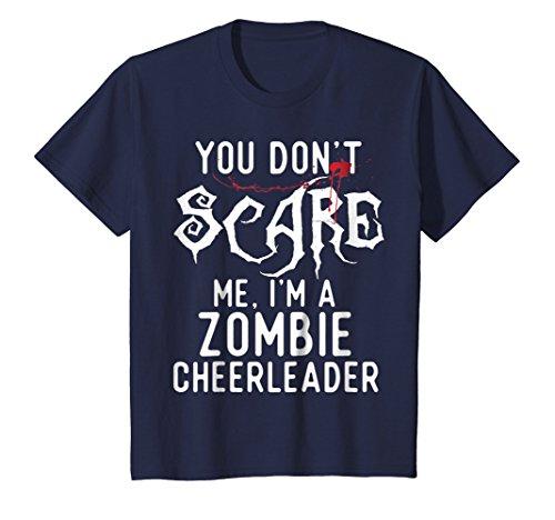 Kids Funny Zombie Cheerleader Shirts Halloween Costume Joke