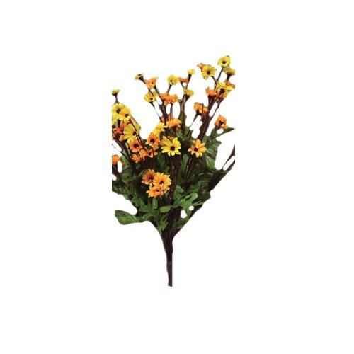 CWI Gifts 18-Inch Mums Bush, Mini, Yellow/Orange