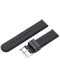 Hadley-Roma Men's MS3470RA 220 22mm Genuine Rubber Diver Sport Watch Strap