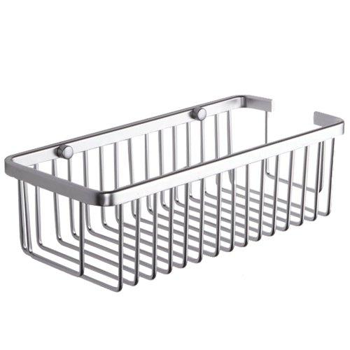KES A4023 Rectangular Tub and Shower Basket Wall Mount, Aluminum