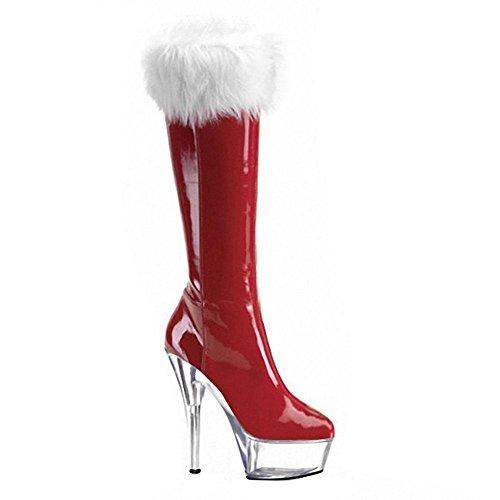 Dance 41 pl SCH Super Guantes Negro Cristal mujeres heels Potencia ¨ Piel Botas high Rojo 1 Noche 5 larga 35 Club ¹ Navidad 87wzq7B